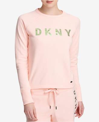DKNY Sport Logo French Terry Cropped Sweatshirt