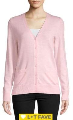 Lord & Taylor Basic Merino Wool Cardigan