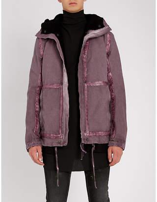 Boris Bidjan Saberi Tape-trim cotton jacket