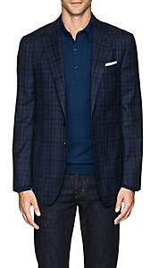 Isaia Men's Sanita Plaid Wool Two-Button Sportcoat - Blue