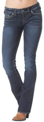 Silver Jeans Women Aiko Mid Rise Slim Boot Defined Curve Slim hip/Thigh Flap Stretch