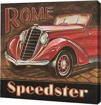 """Gorham PrintArt GW-POD-11-GOR-094-16x16 """"Rome Speedster"""" by Gregory Gallery Wrapped Giclee Canvas Art Print"""