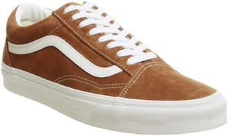 39650147c0 Vans Old Skool Trainers Leather Brown True White