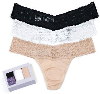 Hanky Panky Three-Pack Original-Rise Organic Cotton Thongs