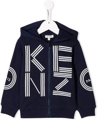 Kenzo logo print zip-up hoodie