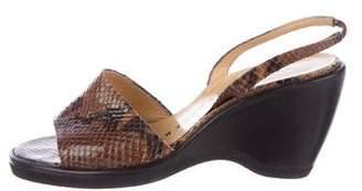 Walter Steiger Snakeskin Slingback Sandals
