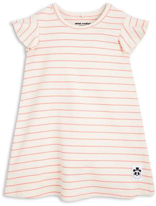MINI RODINI Organic Cotton Striped Trapeze Dress $63.60 thestylecure.com
