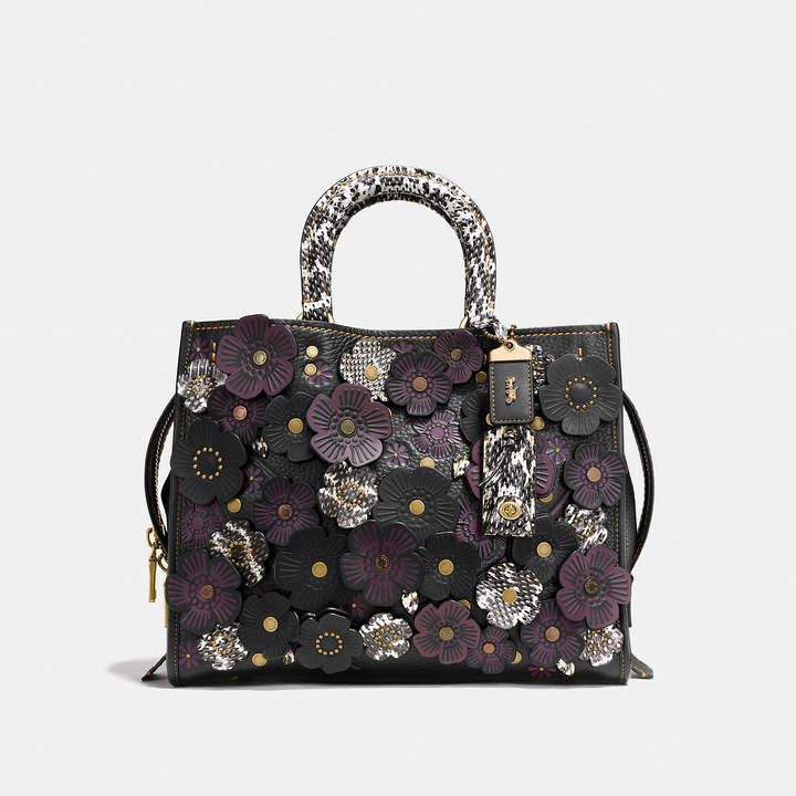 Coach   COACH Coach Rogue With Exotic Tea Rose Applique