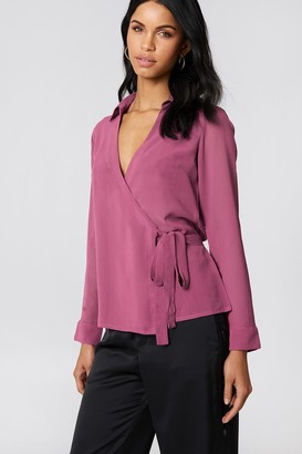NA-KD Na Kd Wrap Over Chiffon Shirt