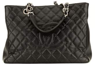 Chanel Black Quilted Caviar Grand Shopping Tote GST (3974006)