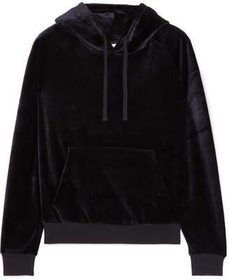 Vetements Crystal-embellished Velour Hooded Top - Black
