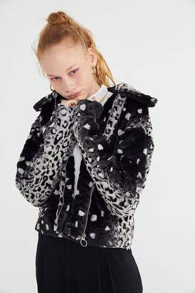 Urban Outfitters Colette Animal Print Faux Fur Jacket
