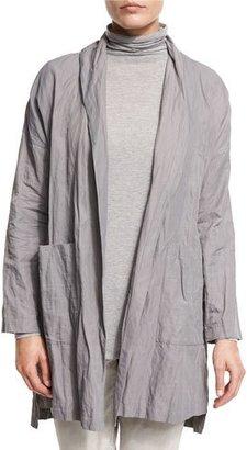 Eileen Fisher Lightweight Textured Kimono Jacket, Smoke $398 thestylecure.com
