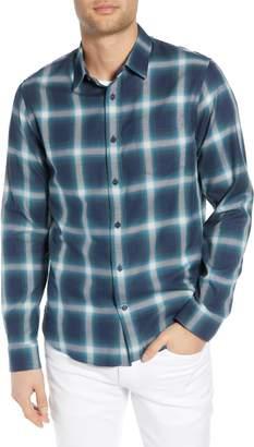 Vince Ombre Shadow Plaid Sport Shirt