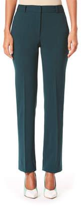 Carolina Herrera Mid Rise Wool Crepe Suit Pants