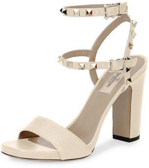 Valentino Rockstud 100mm Chunky-Heel Sandals
