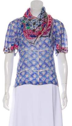 Chanel Silk Floral Blouse w/ Tags