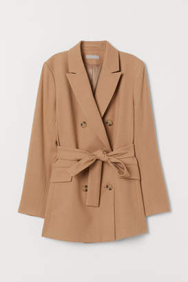 H&M Double-breasted Jacket - Beige
