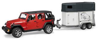Bruder NEW Jeep Wrangler with Horse Trailer