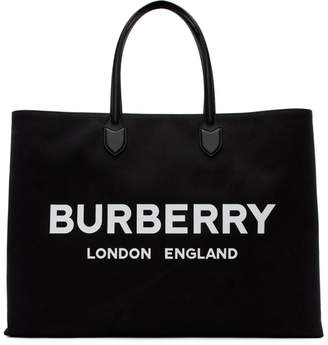 Burberry Black Logo Tote