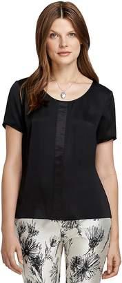Short-Sleeve Silk Blouse $178 thestylecure.com