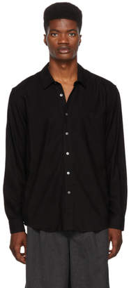 Our Legacy Black Silk Classic Shirt