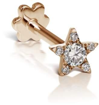 Maria Tash 4.5mm Diamond Star Single Earring - Rose Gold