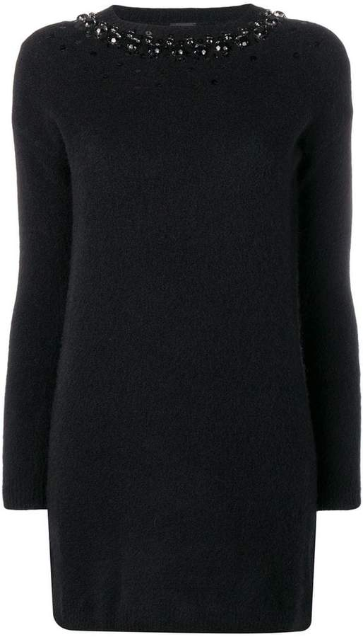 embellished knitted dress