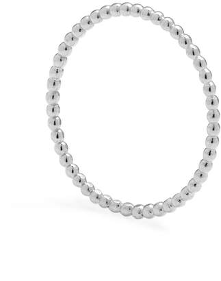 Myia Bonner Silver Skinny Ball Stacking Ring