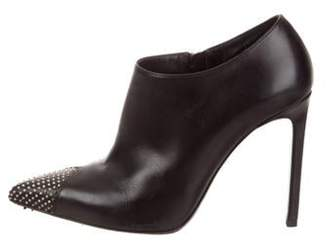 Saint Laurent Studded Pointed-Toe Booties Black Studded Pointed-Toe Booties