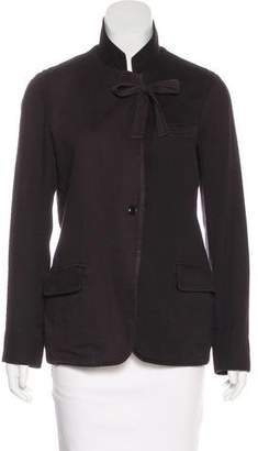 Raquel Allegra Casual Silk-Accented Jacket