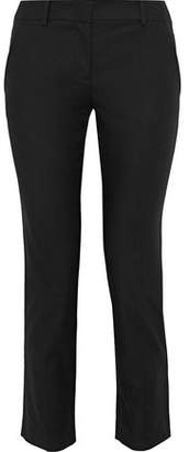 RED Valentino Cropped Cotton-Blend Slim-Leg Pants