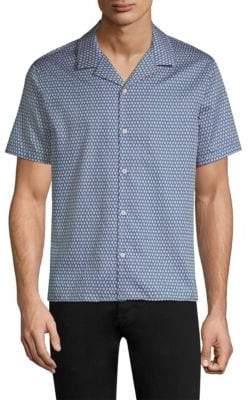 The Kooples Diamond-Print Cotton Button-Down Shirt