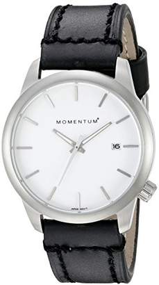 Momentum Women's 'Logic SS' Quartz Stainless Steel and Leather Dress Watch