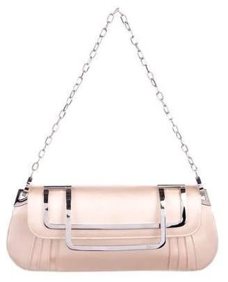 Christian Dior Satin Chain-Link Shoulder Bag