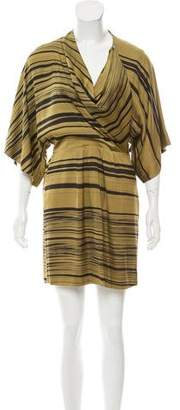 Mara Hoffman Striped Draped Dress
