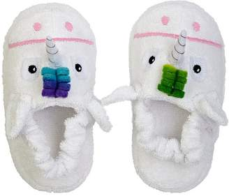 Yikes Twins Unicorn Cotton Terry Slippers