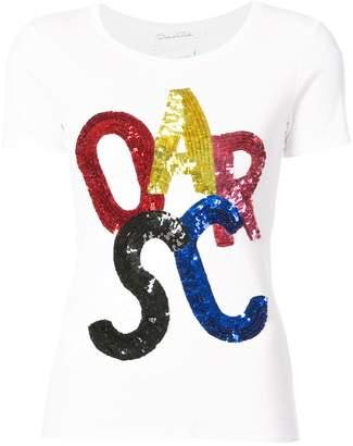 Oscar de la Renta sequin details T-shirt