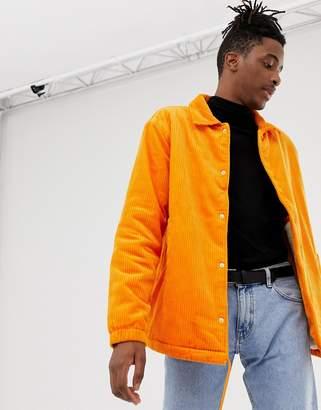 Weekday bob cord jacket orange