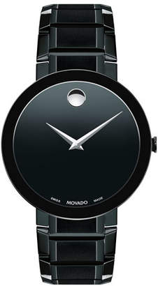 Movado Men's Sapphire Stainless Steel Bracelet Watch, Black