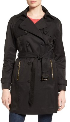 Women's Michael Michael Kors Belted Double Breasted Trench Coat $228 thestylecure.com