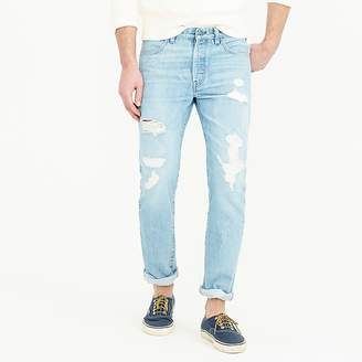 J.Crew Wallace & Barnes jean in destroyed selvedge