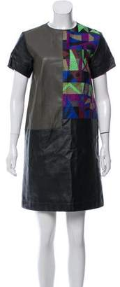 Creatures of the Wind Faux Leather Colorblock Dress