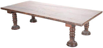 One Kings Lane Vintage Early 20th C. Thick Top Bed Coffee Table