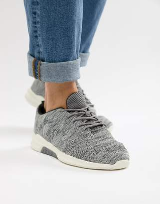 Next sneakers with textured knit in gray