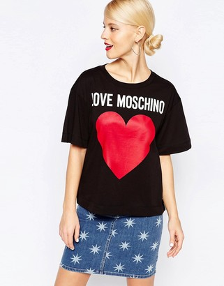 Love Moschino Classic Logo Heart T-Shirt $62 thestylecure.com