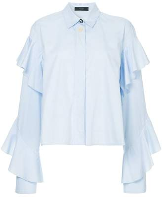 Ellery voltaire frill sleeve shirt