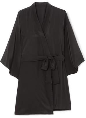 Le Petit Trou - Emmanuelle Silk Kimono - Black