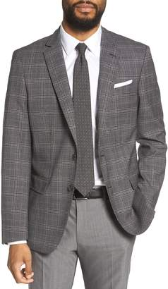 BOSS Hutsons Trim Fit Plaid Wool Sport Coat
