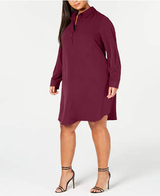 Love Squared Trendy Plus Size A-Line Shirtdress